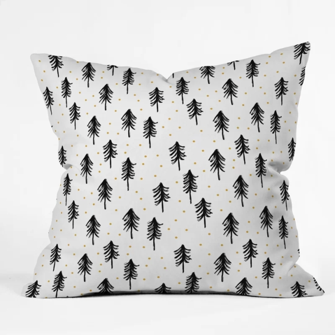 Little+Arrow+Co+Winter+Pines+Throw+Pillow